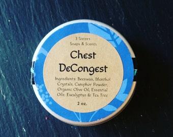 Chest DeCongest ~ Petroleum Free Chest Rub ~ Breathe Again ~ Mild Version for Lil One's or Sensitive Skin