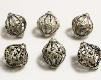 Moroccan Berber Filigree Beads , Ethnic Beads, Tribal Jewelry Supplies, African Focal Beads (AJ165)