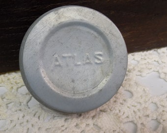 Vintage Atlas Zinc Lid for Standard or Regular Mouth Jars Rustic Primitive