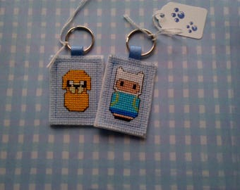 Handmade Keyring Adventure Time Finn the Human & Jake the Dog