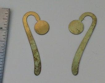 Vintage Brass Unfinished Bookmarks DIY Destash