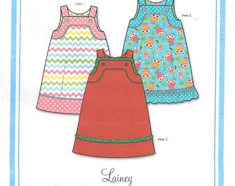 Bonnie Blue Lainey Dress and Jumper Girl's Dress Sewing Pattern