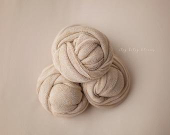 Newborn Knit Wrap, Gold Flakes Baby Wrap, Newborn Photo Prop, Stretch Knit Baby Wrap, RTS