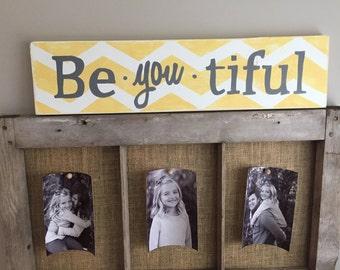 Beautiful chevorn print sign