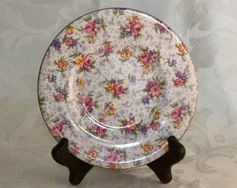 Royal Winton Chintz, Bread Plate, Luncheon Plate In Eleanor Pattern