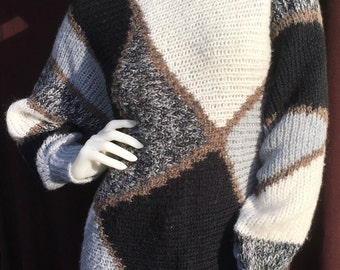 Vintage Knit Sparkly Sweater 80s M/L