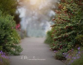 Digital Background of floral pathway