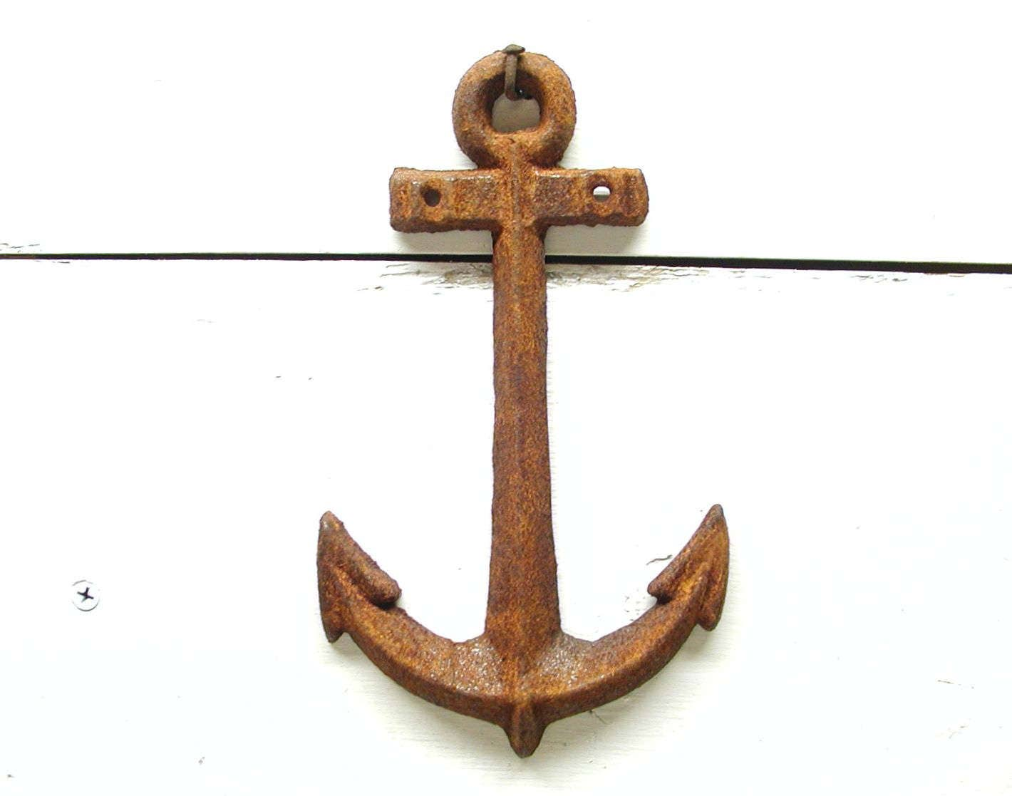 Metal Anchor Nautical Theme Decor Rusty Wall Anchor For Your