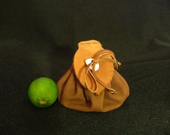 Medieval Drawstring Belt Pouch, Viking Pouch. Leather coin bag.