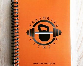 TrainRite Compact Fitness Journal - ORANGE