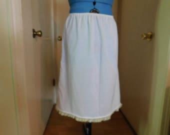 Woman half slip, cotton slip, pioneer clothing, woman undergarment, half slip, pioneer trek, lace trim, pioneer undergarment, underwear,slip