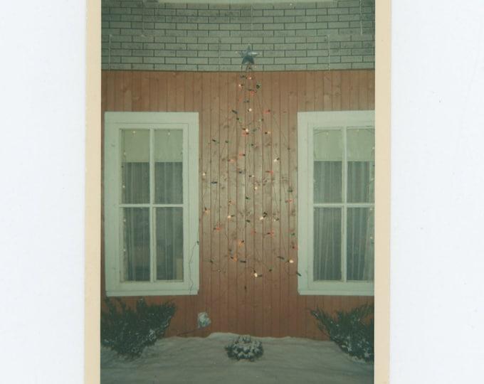 Xmas Lights, 1968: Vintage Snapshot Photo (73553)
