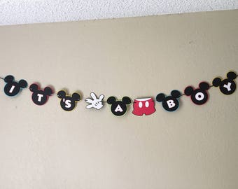 Mickey Mouse baby shower banner