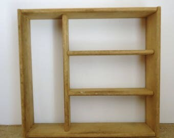 wood shelf, display shelving units, storage shelves, art supply storage, studio, organization, wood box,