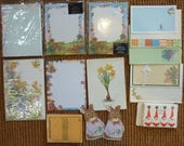 Vintage Stationery Set Writing Paper Envelopes Collection Letters Cards Pads Supply Lot