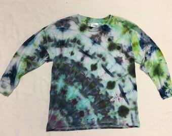 Funky Tie Dye Youth Longsleeve size Medium K158