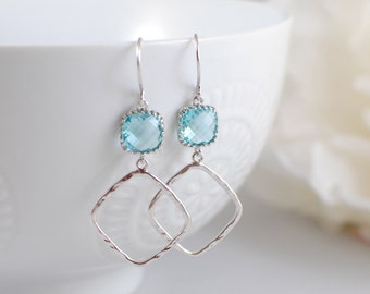 The Janine Earrings - Aquamarine