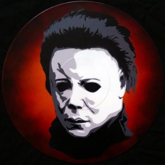Michael Myers Halloween Spray Paint And Stencil Vinyl Record