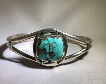 SALE Old New Stock Navajo P Sanchez Turquoise Cuff