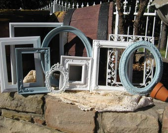 Distressed PICTURE FRAMES - Ornate - Nursery - Shabby Chic Picture Frame Set