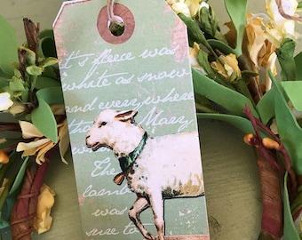 Easter Lamb Hang Tag
