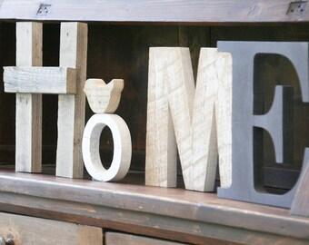 Legno di recupero etsy for Scritta home in legno