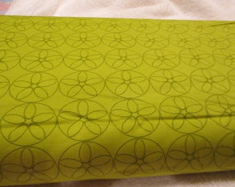 Quilting Weight Cotton Fabric Reel Time Film Reels designed by Zen Chic for Moda in Chartreuse 1 yard