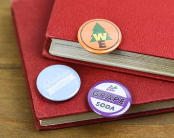 Woodland Explorer Grape Soda Adventure is out there UP Pin Badge Button pack Ellie Badge