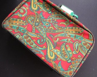 Small Paisley Suitcase Vintage Soft Luggage