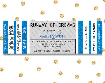 Event Ticket, Digital Event Ticket, DIY, Customizable, Concert Ticket