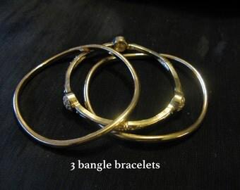 Sale SALE bracelet - gold tone bangle bracelet set - stackable bracelets bangles