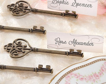 Place Card Holder Vintage Keys Key Name Holders Wedding Reception Escort