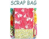 "Liberty Fabric 4"" x 4"" + 3"" x 3"" Scrap Bag Bundle Patchwork Quilting Floral Rectangles Oblongs Squares Liberty of London Cotton Tana Lawn"