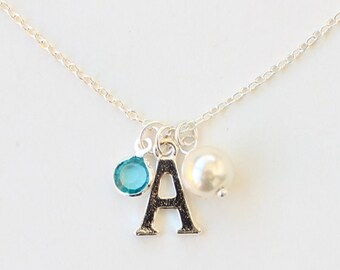 Custom birthstone necklace, personalized gift, best friend birthday gift, mother's necklace, gift for grandma, bridesmaid gift
