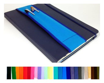 A5 Pick Colors -- 2-pocket Notebook Pencil Holder Bandolier