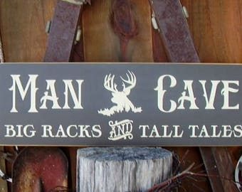 Fathers Day, Fathers Day from Son, Father Gift, Dad gift, Big Racks And Tall Tales, Man Cave, Man Cave Gift, Wood Signs
