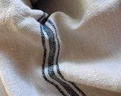 European  Grain Sack, Vintage , Hemp , Chanvre , Pillows , Indigo, French Country Living, French Farmhouse. Monogram BJ.