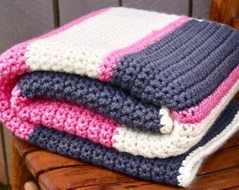 Chunky Stripes Baby Blanket