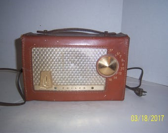 Philco Radio Model D-655-121 Tube Works Station Electric and Battery Operated