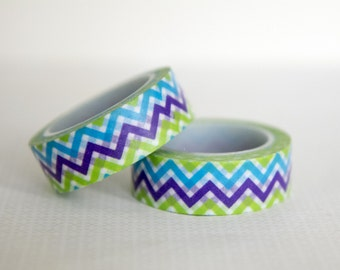 Masking tape, washi tape multicolor/zigzag/rafters 15mm x 10 m 1 roll