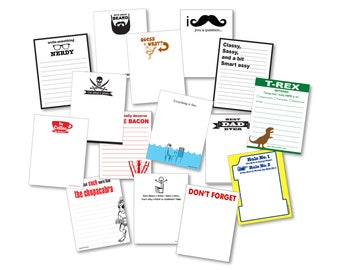15-Pack Assorted Memo Pads - All Occasion Grocery List Variety Set - Funny Office, Work, Home Gag Gift, Party Novelty Paper Greeting Notes