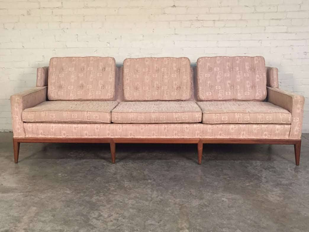 Mid century modern sofa couch by hickory chair company for Sectional sofa hickory chair