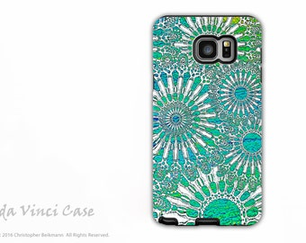 Abstract Samsung Galaxy Note 5 Case - Beautiful dual layer Galaxy Note 5 Case with Turquoise Sea Urchin Art - Ocean Lace