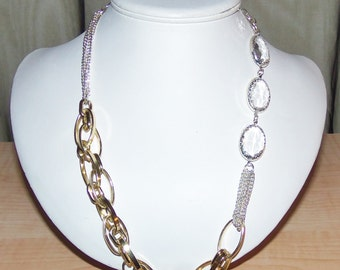 Silver/Gold Chain Necklace, Women's Necklace