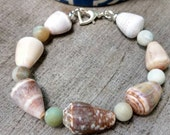 Hawaiian Cone Shell and Amazonite Bracelet