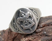 Vintage Sterling Boy Scout Ring H832