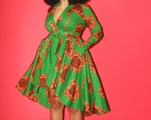 High Low Green Wrap Jacket/Dress - Plus Sizes Available - SALE!