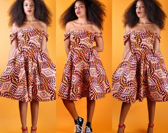 Ade - African Print Wax Print Dress