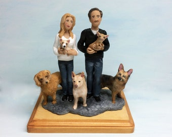 Family Sculpture with Pets by using your ideas and photos