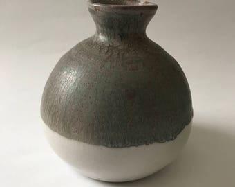 Earthy Green Matte Vase